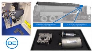 Caja para mando a distancia y local en los moto-reductores con motor neumático.